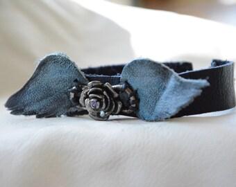 Blue Angel Italian leather Petite cuff