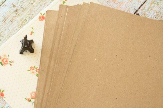 Plain Kraft Brown recycled lightweight A4 size card stock