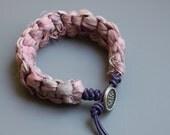 Sari Silk Bracelet - Summer Bracelet - Friendship Bracelet - Teen Bracelet - Textile Jewelry - Beach Bracelet