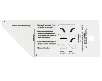 The MINI Binding Tool - TQM Products - Quilter's Tool - Quilting Ruler - Binding Template