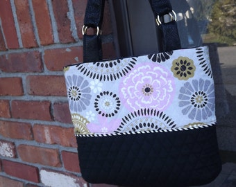 Quilted Women's Purse, Quilted Shoulder Bag, Tote Bag, OOAK Purse