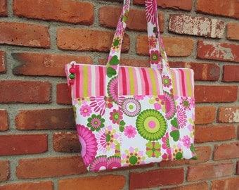 Womens Canvas Bag, Shoulder Bag, Floral Handbag, Sale