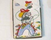 Very Vintage Disney? Pistol Pete Dog Cowboy Hand Towel and  Washcloth in Original Box Unused