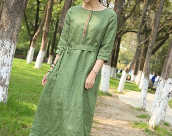 Maxi Dress Loose Fitting half Sleeve Dress(more colour and size choice)