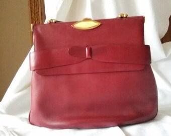 Red handbag 50s