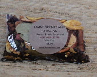 Handmade In Maine, Simmering Potpourri, Hot Apple Pie, Natural Rustic Potpourri, DOMESTIC SHIPPING INCLUDED, Housewarming, Gifts,