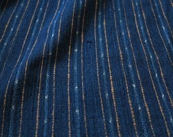 SPRING SALE 20% OFF - SKUIDHF14 - dark indigo tone, striped + ikat pattern