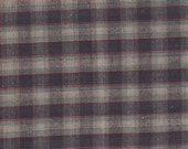 """Navy ~ Teal ~ Rust ~ Beige Plaid Fabric 17"""" X 18"""" Cotton Remnant 4 Fun Home Décor ~ Quilting &  Sewing  Projects ~ Inventory # PL - 2"""