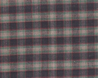"Navy ~ Teal ~ Rust ~ Beige Plaid Fabric 17"" X 18"" Cotton Remnant 4 Fun Home Décor ~ Quilting &  Sewing  Projects ~ Inventory # PL - 2"