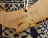 Personalized etching for elephant, whale, bear ornaments!