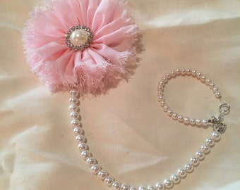 Baby Pink Pearl Pacifier Clip