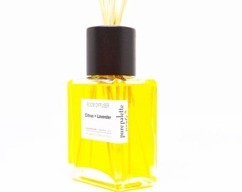 Citrus Lavender Reed Diffuser Oil - Fragrance - Home Decor / Dorm Decor with Natural Undyed Reeds