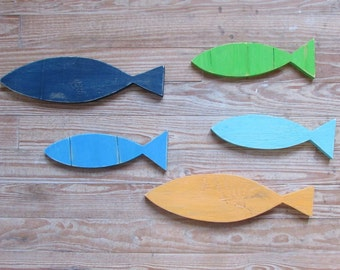 Tropical Fish. Wood Fish. Fish Wall Art. Beach House Decor. Coastal Decor. Reclaimed Wood Fish. Made To Order