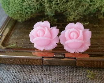 Flower Plugs Gauges Baby Pink Roses