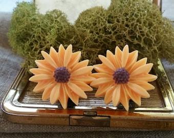 Large Bridal Plugs, Prom Plugs, Flower Plugs, Light Yellow Sunflowers