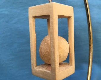 Custom Carved Ball in a Box Tree Ornament Wood Carving Hand Carved Christmas Decoration Decor Ornaments Tree Trimmers Wood Carvers of Etsy
