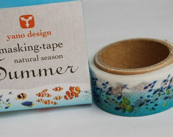 Tropical fish Yano design debut series washi tape 20mm x 5M