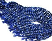 Lapis Lazuli Smooth Cut Brick (Quality B) 4.5x7 to 5.5x8.5 mm / 17 to 19 Grms / LA-073