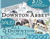 SALE Downton Abbey eBooklet Bundle ALL 4 plus Eqyptomania Bonus Pdf Edition Authentic 1920's Pattern Booklet Download Patterns