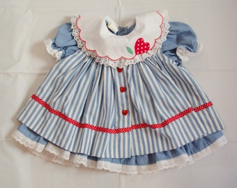 Vintage One Year Dress First Birthday Dress Patriotic Baby Dress Red White Blue Dress July 4 Dress Summer Baby Dress American Baby Dress