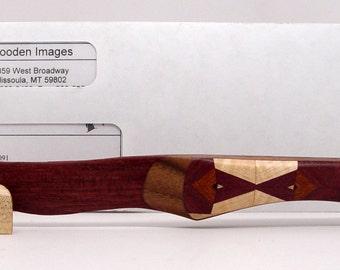 Wooden Letter Opener, Purpleheart