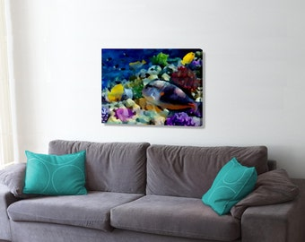 Abstract Reef Fish