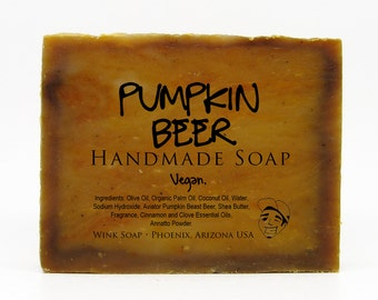 Pumpkin Beer Handmade Soap, Limited Edition Holiday Scent, Vegan, Organic, 100% Natural