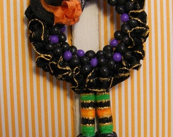 12th Scale Doll House Halloween Witch Door Wreath