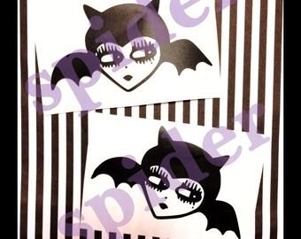 Gothie Bats Vinyl Decal Sticker Stickers Spooky Cutie Creepy Cute Bat Sticker Decals Car Decal
