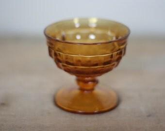 vintage fostoria gold glass sherbet dish
