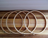 "DESTASH - 8"" Wood Embroidery Hoops - Round Sewing, Stitching, Needlework, Arts and Crafts Supply - Set of 4"