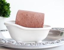 Rose Clay Facial Soap Handmade Artisan Soap Strawberries 'N Cream Ylang Ylang Essential Oil Oily, Combination Skin VEGAN