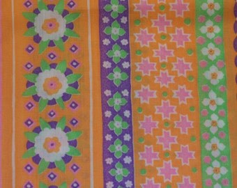 Vintage 70's Cotton Fabric 3 yards