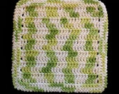 100% Cotton Hand Crocheted Dishcloth Washcloth Color: Key Lime Pie