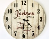 Personalized Rustic Clock 18 Inch Diameter by MRC Wood Products