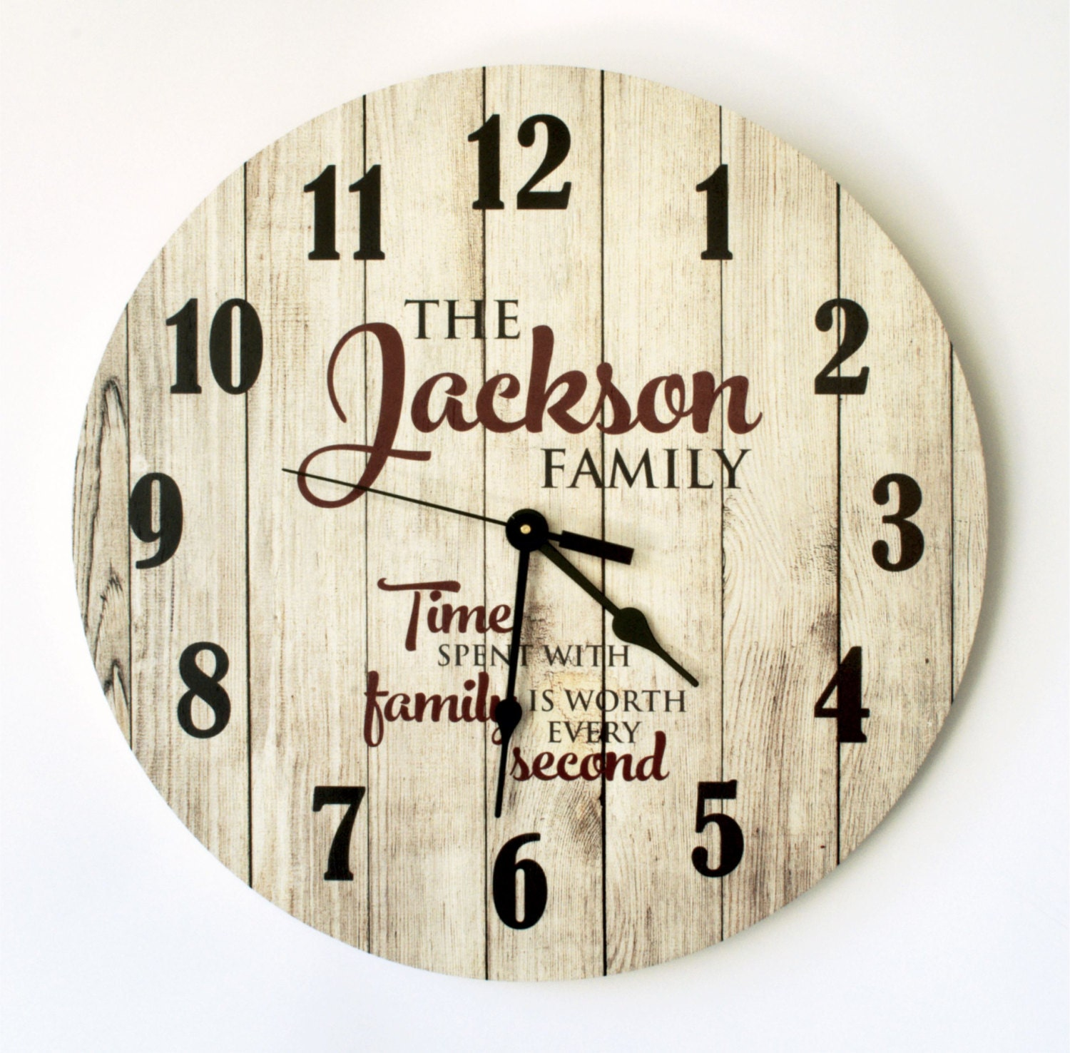 Personalized Rustic Clock 18 Inch Diameter By Mrc Wood