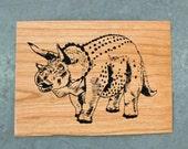 Dinosaur - Screen print on wood veneer // Dinosaure - Sérigraphie sur placage de bois