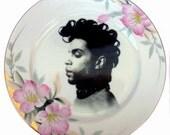 "Prince Portrait Plate - Altered Vintage Plate 10"""