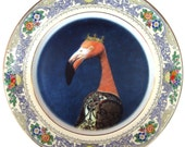 Baroness Flamant - Altered Vintage Plate 8.75""