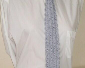 Crochet Gray Necktie, Valentine's Gift, Valentines Day Gift, Boyfriend Gift, Gray Tie, Necktie, Crochet Tie, Neckties, Grooms Gift