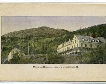 Mountain House Monadnock Mountain New Hampshire 1910c postcard