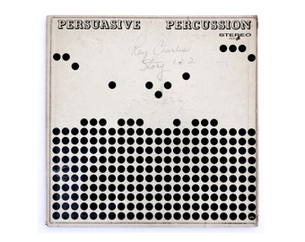 "Josef Albers record album design, 1959. Enoch Light ""Persuasive Percussion"" LP"