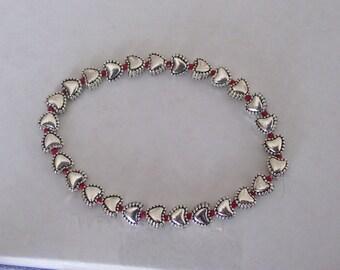 Pewter Heart Bracelet