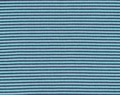 ORGANIC KNIT-Cloud9 Stripe (Navy)  1 yard