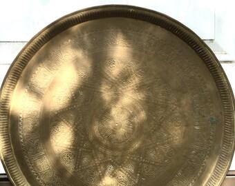 Modern Brass Tray or Platter