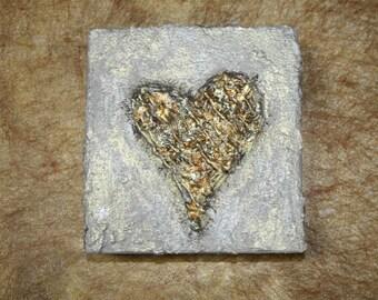 Textured  Heart Art