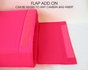 ADD-ON Flap Top Lid for Camera Bag Insert - Hook and Loop Closure