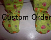 Two Pairs 3/4T Bamboo Fleee Footed Jammie Pants