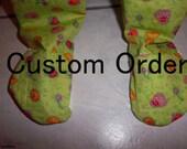 Footie Pajama Pants 3/4T Dark Pink Cotton Knit