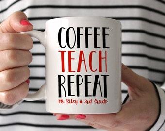 Teacher Gifts Christmas Gift for Teacher Personalized Teacher Appreciation Gift Teacher Mug New Teacher Gift Teacher Gift Ideas Cute Mug